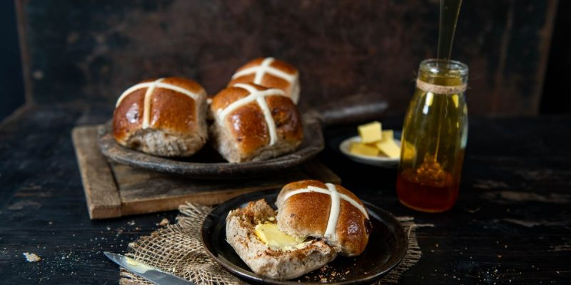sweet and seasonal easter buns with honey