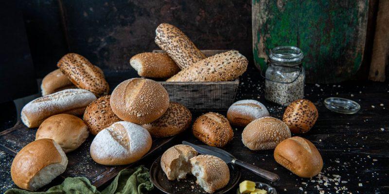 range of bread rolls